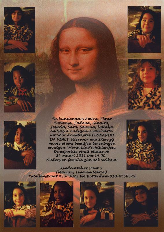 Leerlingen van de Emmausschool maakten prachtige etsen, beelden en tekeningen rondom het thema Mona Lisa. Kom ook kijken!